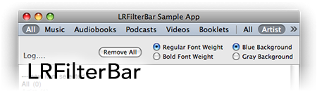 LRFilterBar logo